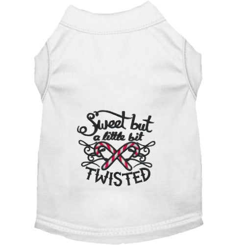 Christmas Dog Shirt - Sweet But Twisted - Small to Large Dogs - dog-collar-fancy