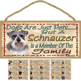 Pet lovers dog breed member of the family wall hangings