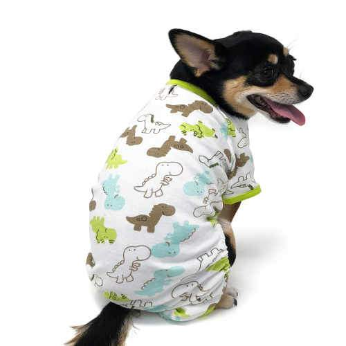 Cute Dinosaur Dog Pajamas model dog