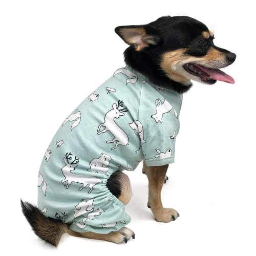 Polar Animals Print Dog Pajamas model dog 1