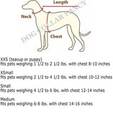 Dog dress sizing chart