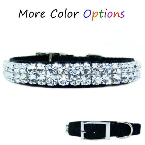 Double Bubble Bling Pet Collar - For small dogs and cats - dog-collar-fancy