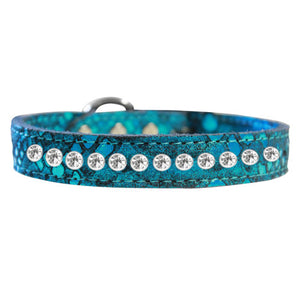 1 row Dragon Pet Collar in blue