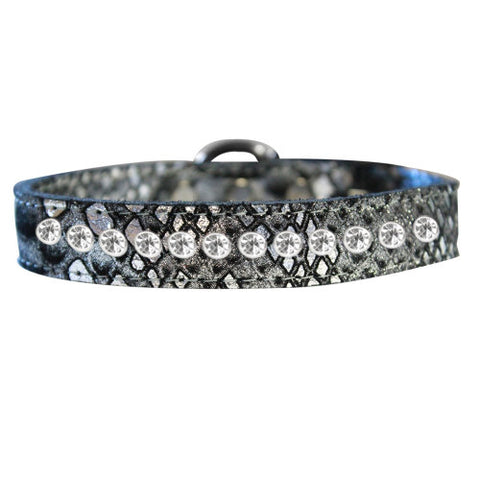 1 row Dragon Pet Collar in silver