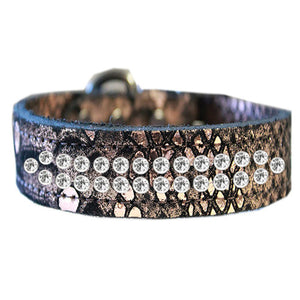 2 row Dragon Pet Collar in copper color