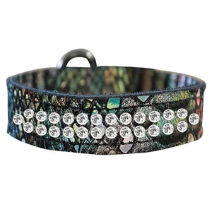 2 row Dragon Pet Collar in magic multi colors