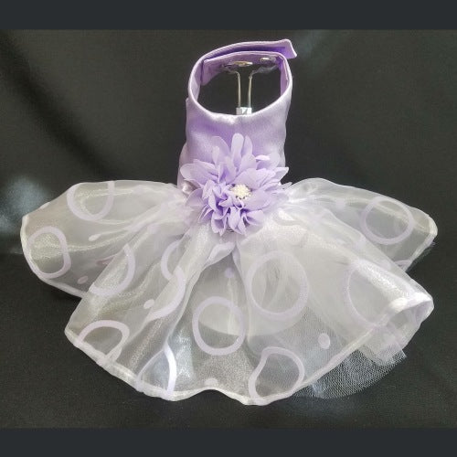 Dreamy Lilac Dog Tutu Dress - For small to large dogs - dog-collar-fancy