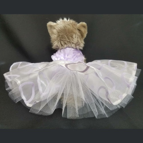 Dreamy Lilac dog dress model.