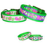 Colorful Eggs Easter dog collar
