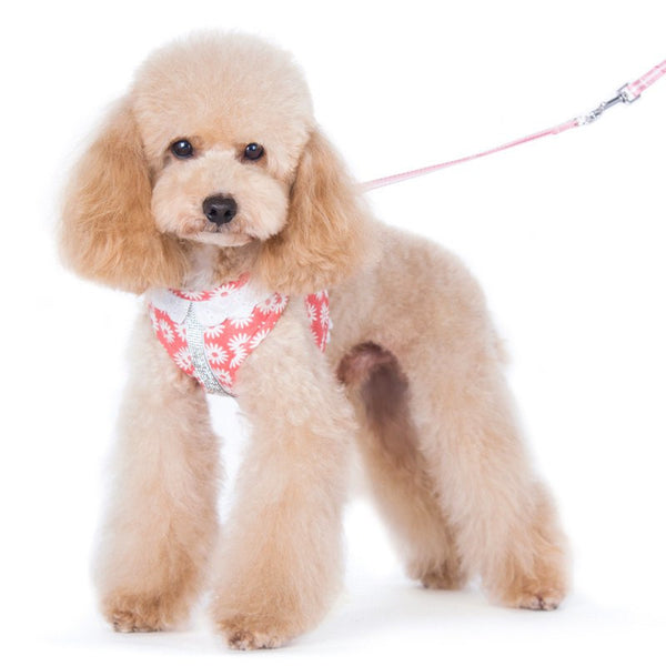 Floral harness with rhinestones model.