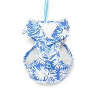 EasyGo Hawaii print dog harness step in style.
