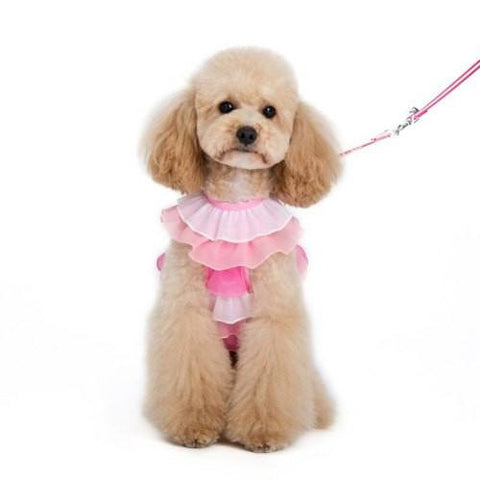 EasyGo Pink Ruffles Dog Harness - For small to large dogs - dog-collar-fancy