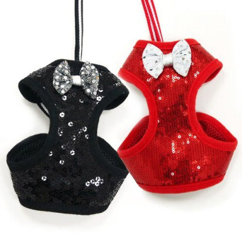 Sequin Dog Harness for small to large dogs