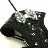 EasyGo Sequin Dog Harness in black