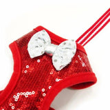 EasyGo Sequin Dog Harness in red