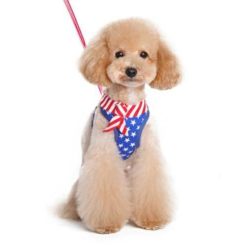 Patriotic Dog Harness for small to large dogs