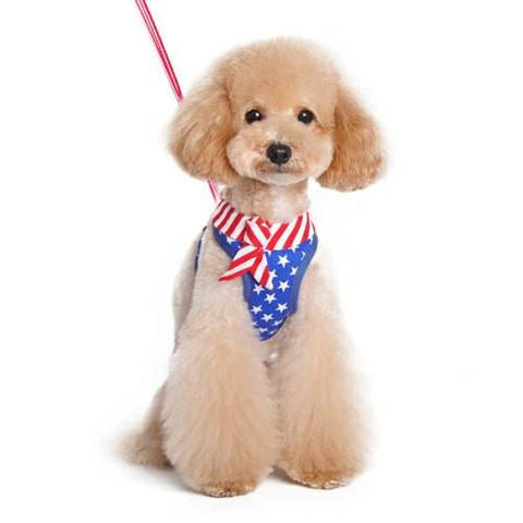 EasyGo Patriotic Dog Harness - For small to large dogs - dog-collar-fancy