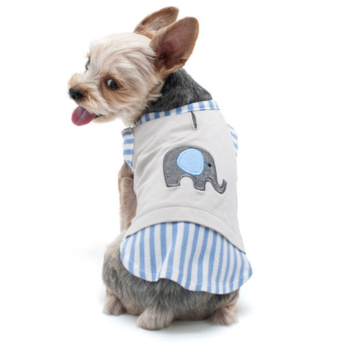 Cute elephant dog shirt in a tank style for summer fun