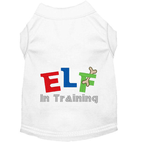 Christmas Dog Shirt - Elf in Training - Small to Large Dogs - dog-collar-fancy