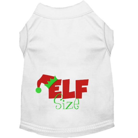 Elf Size Christmas dog shirt for small to extra large dogs.