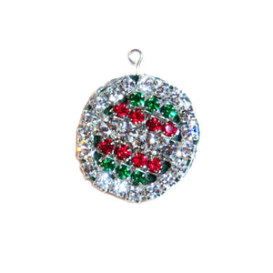 2 sided Christmas Ornament Charm Medium - pet charm - dog-collar-fancy