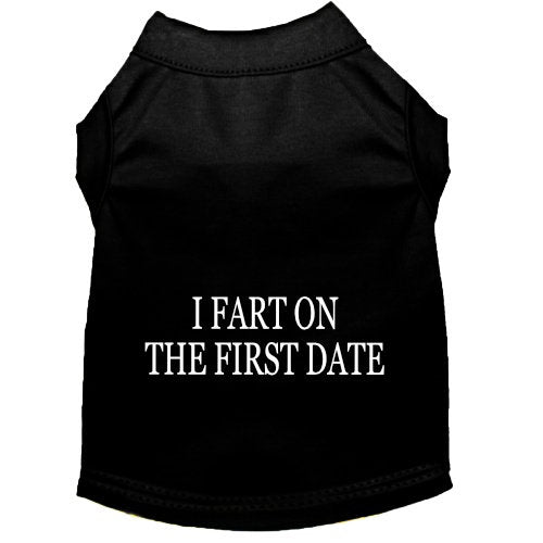 I Fart on the First Date Dog Shirt - Small to Large Dogs - dog-collar-fancy