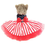 Stars and Stripes Dog Dress - Tiny to large dogs - dog-collar-fancy