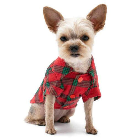 Holiday Flannel Dog Shirt dog model