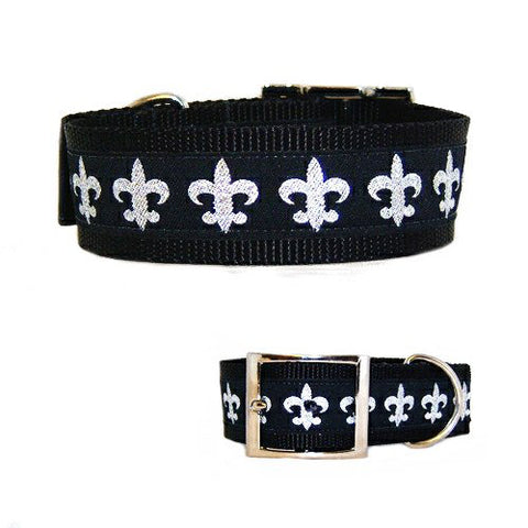 Fleur Di Lis Dog Collar - dog-collar-fancy