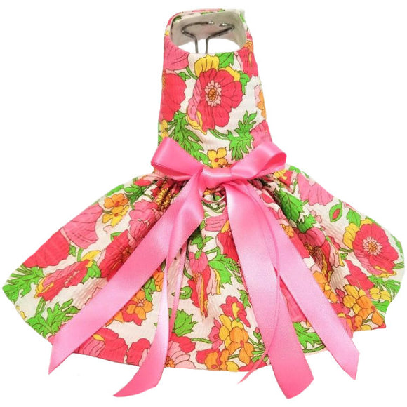 Gorgeous floral mix dog dress