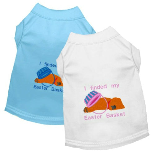 Easter Dog Shirt - My Easter Basket - Small to Medium Dogs - dog-collar-fancy