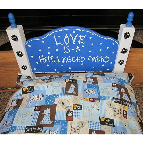 4 Legged Word Dog Bed - For dogs and cats - dog-collar-fancy