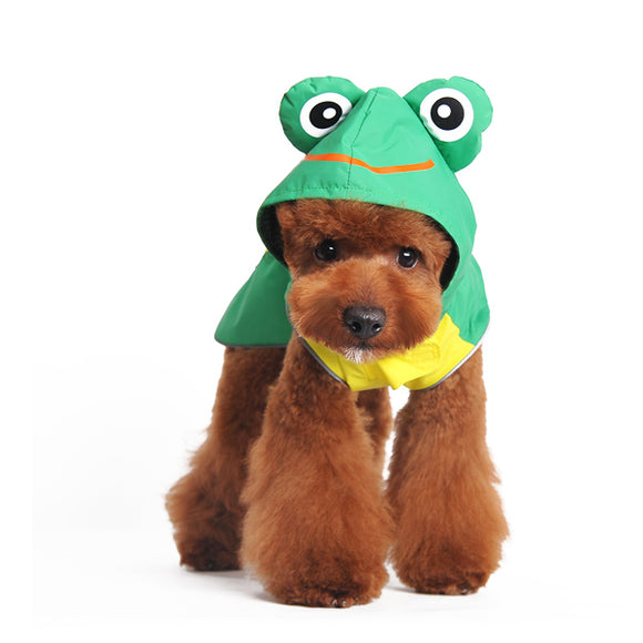 frog dog raincoat model dog