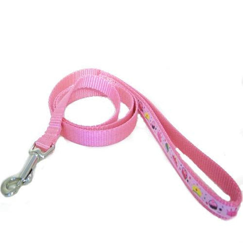 Girly Things Decorated Pet Leash - 5/8 inch wide leash - dog-collar-fancy