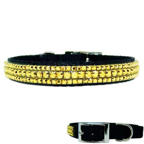 Gold Layers Crystal Pet Collar