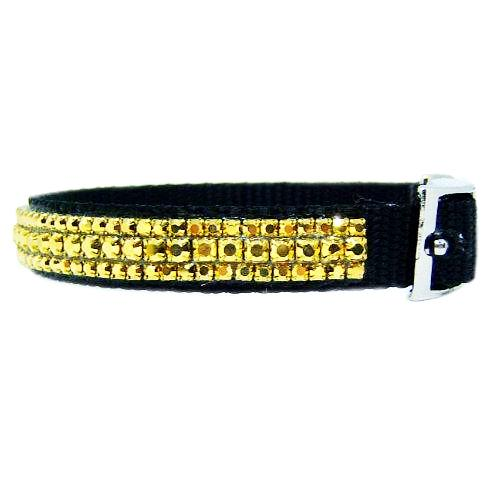 Gold Layers Crystal Pet Collar side view