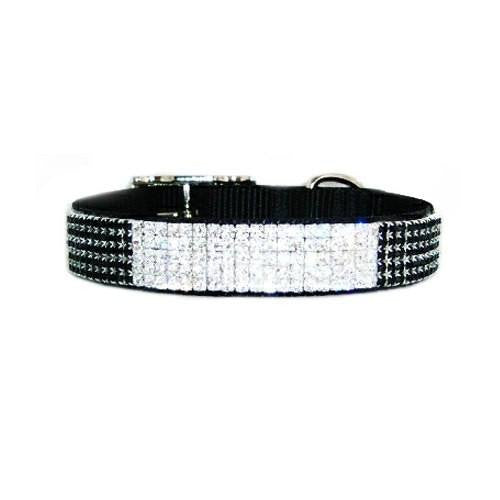 Formal crystal dog collar grand entrance for medium to large dogs.
