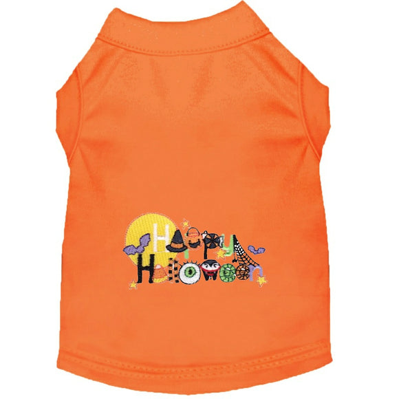 Halloween Dog Shirt - Happy Halloween Things - Small to Medium Dogs - dog-collar-fancy