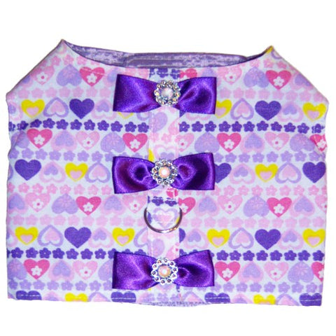 Happy Hearts Dog Harness - For small to large dogs - dog-collar-fancy