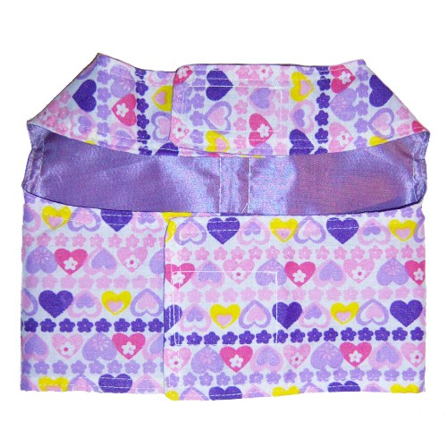 Happy Hearts dog harness back view.