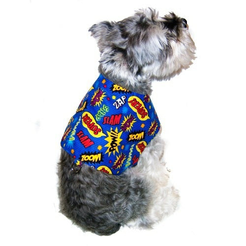 Super Hero dog harness for small to medium dogs.
