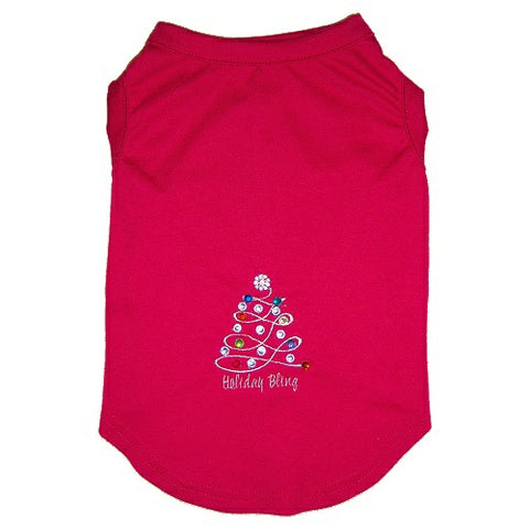 Christmas Tree Rhinestone Dog Shirt