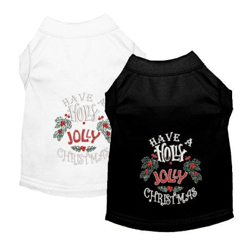 Holly Jolly Christmas dog shirt for small to large dogs
