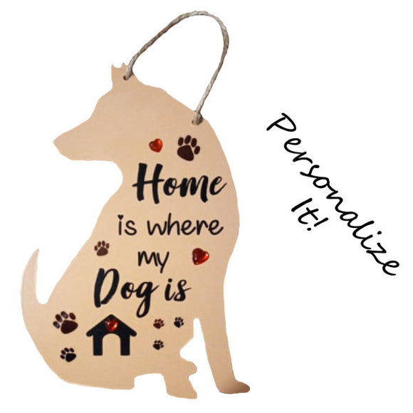 Personalized dog plaque hand painted