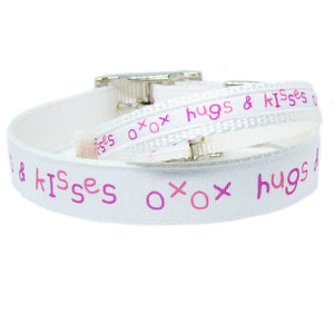 Hugs and Kisses Dog Collar - For dogs and cats - dog-collar-fancy
