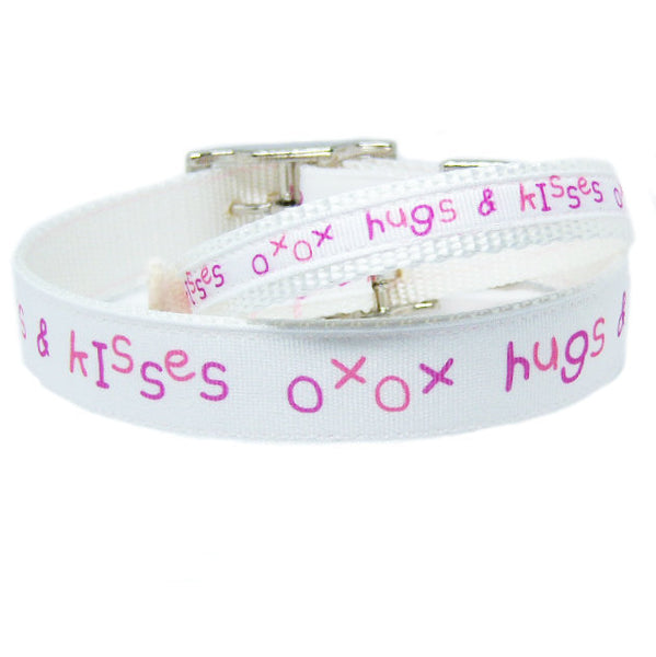 Hugs and Kisses dog collar perfect for Valentines Day