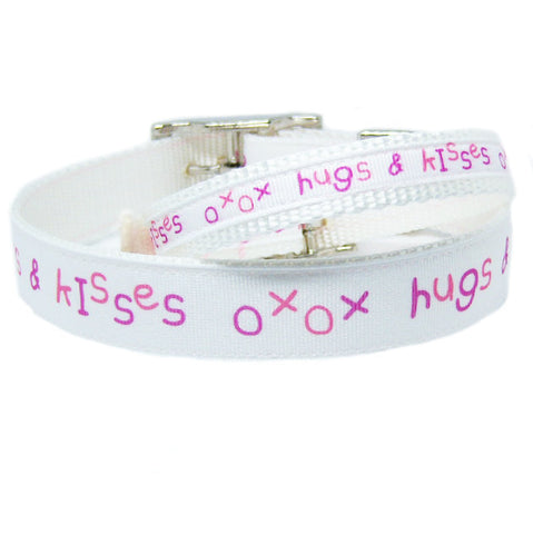 Hugs and Kisses Dog Collar - dog-collar-fancy