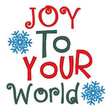 Joy to your world Christmas dog shirt embroidery