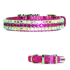 Kiss Me Pretty Crystal Pet Collar - For dogs and cats - dog-collar-fancy
