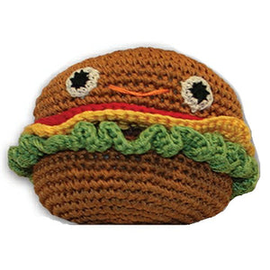 Organic Cotton Dog Toy - Happy Cheeseburger